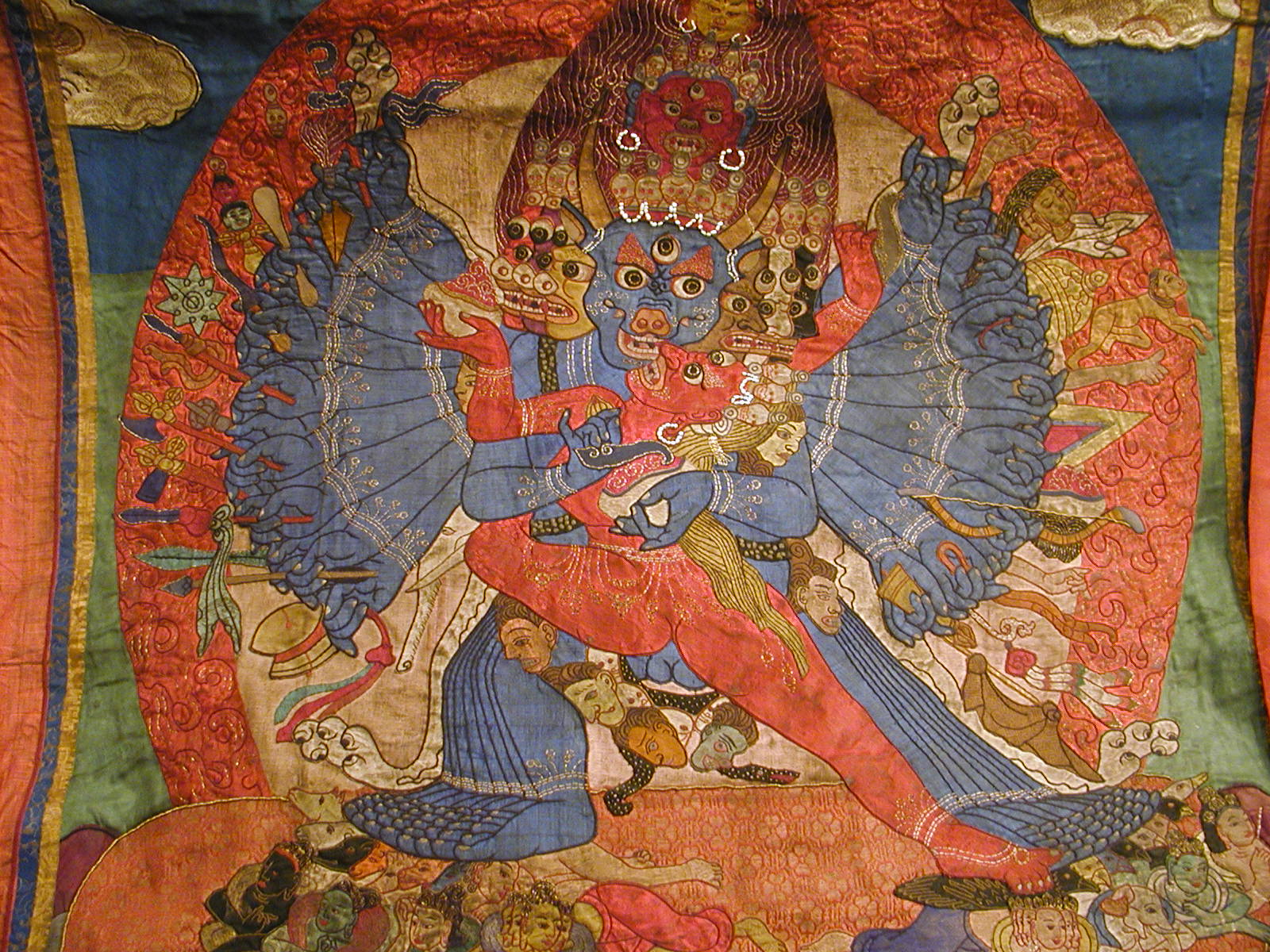 Yamantaka Applique Thangka